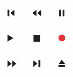 audio and video symbols vector image