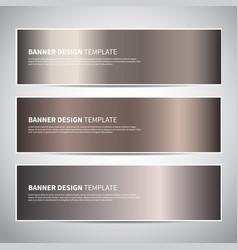 Banners bronze gold gradient banner vector