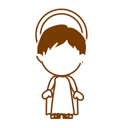 brown silhouette of faceless image of child jesus vector image