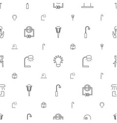 Bulb icons pattern seamless white background vector
