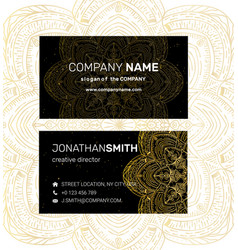 Business card in oriental style vector