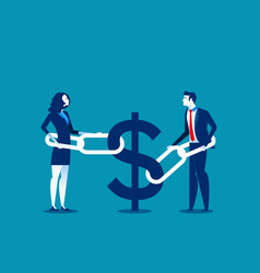 Business financial issues concept business vector