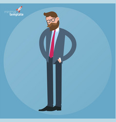 Businessman looking for something in his pockets vector