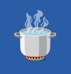 cartoon pan on fire vector image