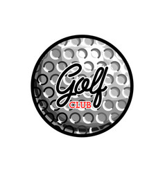 Color vintage golf club emblem vector