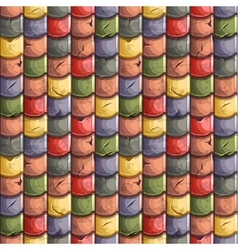 Colored old roof tiles seamless background vector