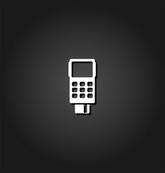credit card terminal icon flat vector image