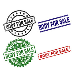 Damaged textured body for sale seal stamps vector