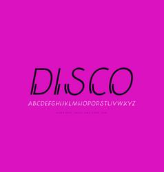 Decorative clip italic sans serif font vector