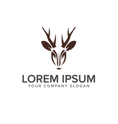 deer logo design concept template vector image