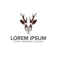 deer logo design concept template vector image