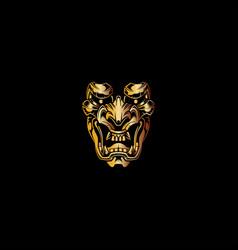 Devil mask logo vector