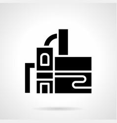 Distillery building glyph style icon vector