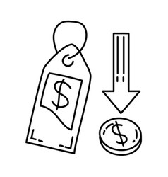 economic icon doodle hand drawn or outline icon vector image