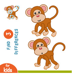 Find differences monkey vector