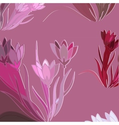 Floral Background With Blooming Lilies vector