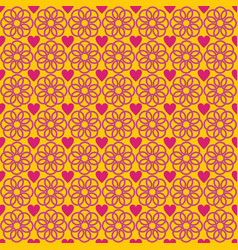 flower love abstract pattern yellow vector image