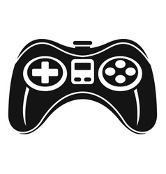 gamepad icon simple style vector image