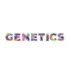 Genetics concept retro colorful word art vector