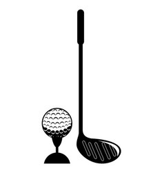 Golf sport club emblem icon vector