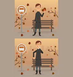 happy and sad man character vector image