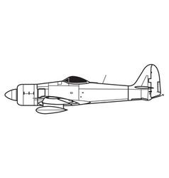 Hawker sea fury vector
