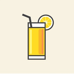 Healthy Refreshment A Glass Of Yellow Lemon Juice vector image