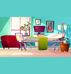Hospital ward room interior vector
