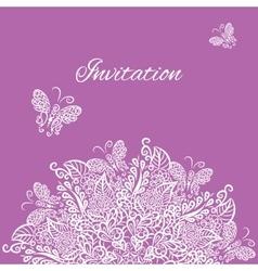 Invitation violet background vector