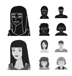 isolated object avatar and person sign vector image