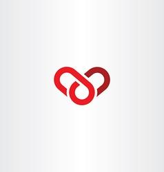 Knot heart shape icon logo vector