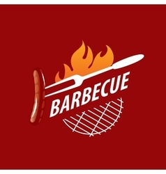 logo barbecue vector image