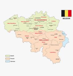 Map belgian regions vector
