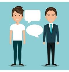 Men talking dialogue isolated vector