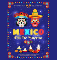 Mexico holiday poster vector