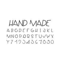Naive sloppy handwriting decorative flashy vector