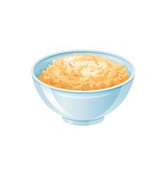Oats porridge bowl oatmeal healthy sweet vector