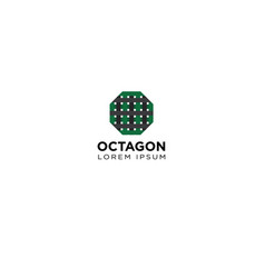 octagon logo design vector image