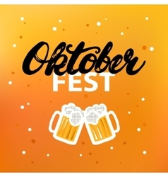 Octoberfest hand written calligraphy lettering vector