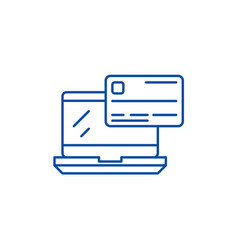 online payment line icon concept online payment vector image