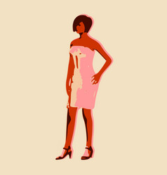 posing lady figure vector image