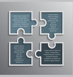 Puzzle infographics 4 steps banner puzzles pieces vector