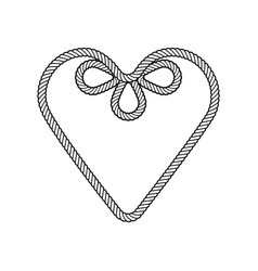 rope decor heart vector image
