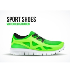 Running green shoes Bright Sport sneakers symbol vector image