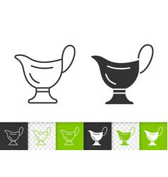 sauce boat simple black line icon vector image