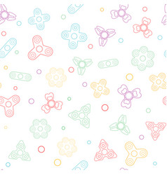 seamless pattern with fidget spiner vector image