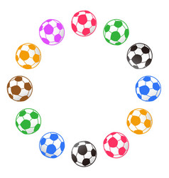 soccer ball around with copy space vector image