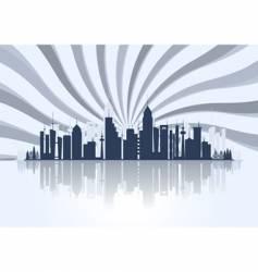 starry city escape vector image