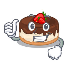 Thumbs up cake berries in character that fresh vector