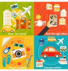 Time For Travel Concept vector